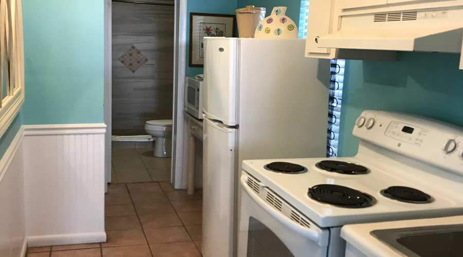 Captiva Island Cottages - Gardenia Kitchen and Extra Bathroom 900 x 500