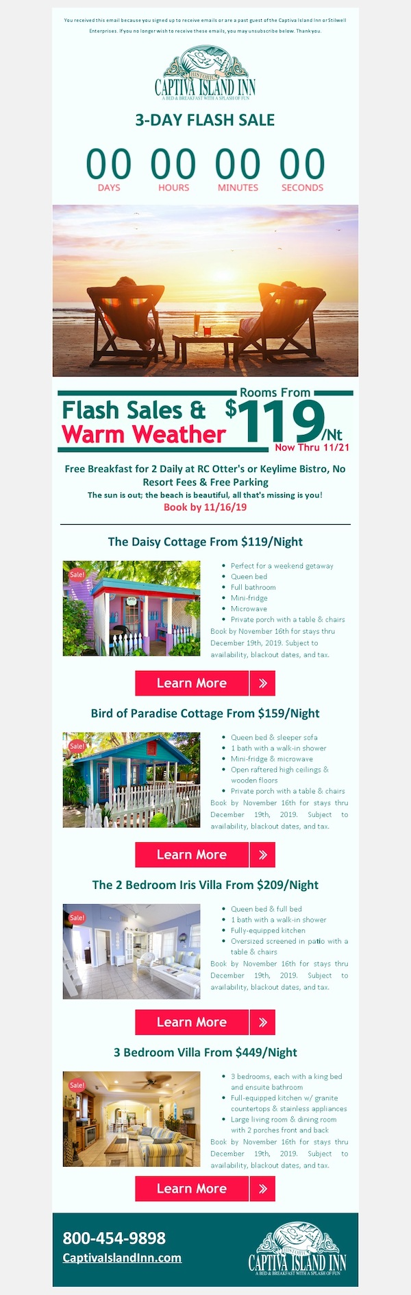 Captiva Island Inn - Past Guest Email 2019-11-13